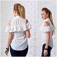 Рубашка (905) рюш, белый