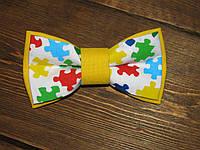 Галстук-бабочка, желтая