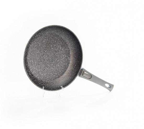 """Сковорода """"Rock Stone"""" 24х4.9см с индукционным дном алюминиевая с каменным антипригарным покрытием Fissman"""