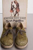 HUSH PUPPIES замшевые дерби размер 42 цвет оливковый б/у ОДЕВАЛИСЬ ПАРУ РАЗ
