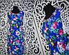Красивое женское платье с фурнитурой и рукавами из кружева 54 размер батал