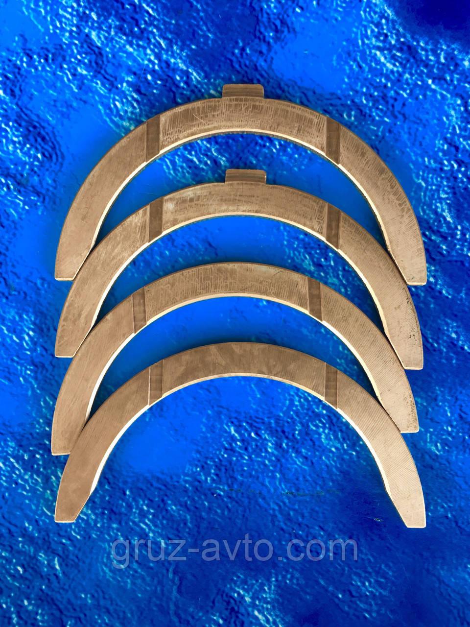 Полукольцо опорное коленвала КАМАЗ бронза/комплект-4шт./ ДААЗ/ все размеры/ 740.1005183