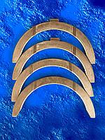 Полукольцо опорное коленвала КАМАЗ бронза/комплект-4шт./ ДААЗ/ все размеры/ 740.1005183, фото 1