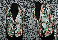 """Яркий женский пиджак """"Стрейч-коттон"""" 42 размер"""