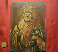 Икона середина 19 века Николай Чудотворец