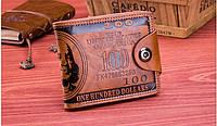 Мужское портмоне 100$ (Brown)