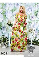 Платье макси из штапеля 2 цвета