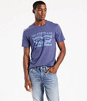 Мужская футболка Levi's ® 2-Horse Pull Tee - Deep Cobalt Heater