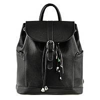 Рюкзак-сумка кожаный женский черный (ручная работа), фото 1