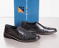 Giorgio Brutini кожаные лоуферы кожаная подошва размер 42 б/у ОДЕВАЛИСЬ 1 РАЗ
