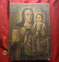 Старинная редкая икона Божья Матерь