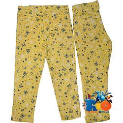 """Красивые коттоновые брюки """"Бабочки""""  для девочки от 8-12 лет (5 ед. в уп.)"""