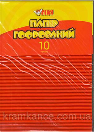 Бумага цветная А4 TIKI-50913 гофрированная 10л. 10цв., фото 2