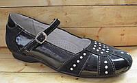 Кожаные детские туфли для девочек размер 36