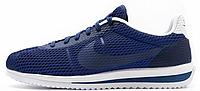 Мужские кроссовки Nike Cortez Blue (Найк Кортес) синие