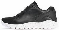 Мужские кроссовки Nike Koth Ultra Black Leather (Найк) кожаные черные