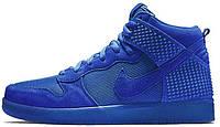 Мужские высокие кроссовки Nike Dunk Premium (Найк Данк) синие