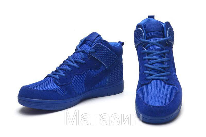 df979a38 Мужские высокие кроссовки Nike Dunk Premium (в стиле Найк Данк) синие, цена  1 428 грн., купить в Киеве — Prom.ua (ID#540789390)