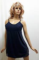 Ночная рубашка женская на тонкой бретельке с гипюром 136, фото 1