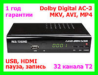 T2 тюнер + Dolby Digital AC3 Roks RKS-T202HD (ресивер 32 канала Т2)