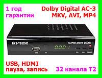 DVB-T2 приемник + AC-3 Roks RKS-T202HD (32 канала Т2)