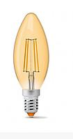 Лампа Videx Filament C37FA 4W E14  2200K 220V (бронза)