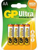 Батарейки GP AA (LR6) Ultra Alcaline 1.5V 4шт