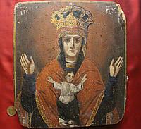 Старинная редкая Икона Знамение Божьей Матери