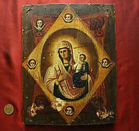 Старинная редкая икона Неопалимая Купина