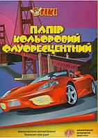 Бумага цветная А4 TIKI-50905. 10л. флуорисцентная