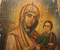 Старинная Антикварная Икона Божьей Матери Смоленская