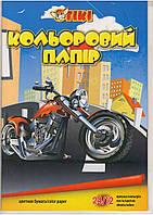 Бумага цветная А4 TIKI-50903. 24л. 12цв.