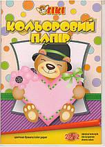 Бумага цветная А4 TIKI-50903. 24л. 12цв., фото 3