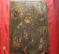 Антикварная икона Николай Чудотворец