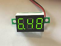 Вольтметр 27020G цифровой DVM-36 постоянного тока 4,5-30V Зеленый (два провода)