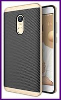Чехол, бампер iPaky для смартфона Xiaomi redmi note 4x (GOLD)