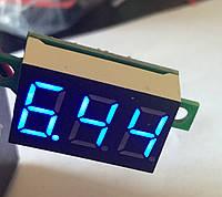 Вольтметр 27020B цифровой DVM-36 постоянного тока 4,5-30V Синий (два провода)