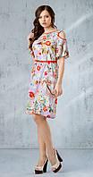 Платье Gizart-1557-1 белорусский трикотаж цвета цветы