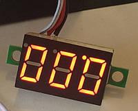 Вольтметр 27022R цифровой DVM-36.3 постоянного тока 0-30V Красный (три провода)
