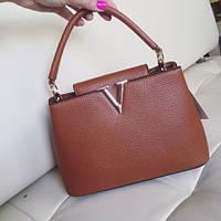 Женская сумочка коричневого цвета. Модель 103028.