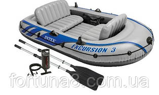 Надувная лодка Intex  Excursion 3 Set