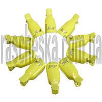 Зажимы для снятия гель-лака 10шт/уп желтые (пластиковые, многоразового использования)