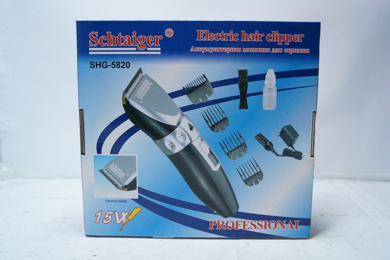 Машинка для стрижки волос Schtaiger SHG-5820 керамические ножи