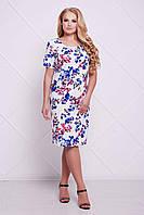 Женское Классическое платье-футляр АДЕЛЬ голубое (54-60)