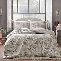 Двуспальное евро постельное белье Linens Allure Grey Сатин