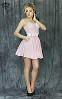 """Летнее женское платье """"Сьюзи"""" (белый+розовый)"""