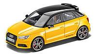 Модель автомобиля Audi S1 Sportback, Vegas yellow, Scale 1:43