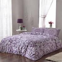 Двуспальное евро постельное белье Linens Dainty Lilac Сатин
