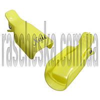 Клипсы для снятия гель лака 5шт/уп желтые (пластиковые, многоразового использования)