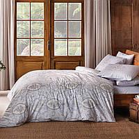 Двуспальное евро постельное белье Linens Chelsey Lilac Сатин